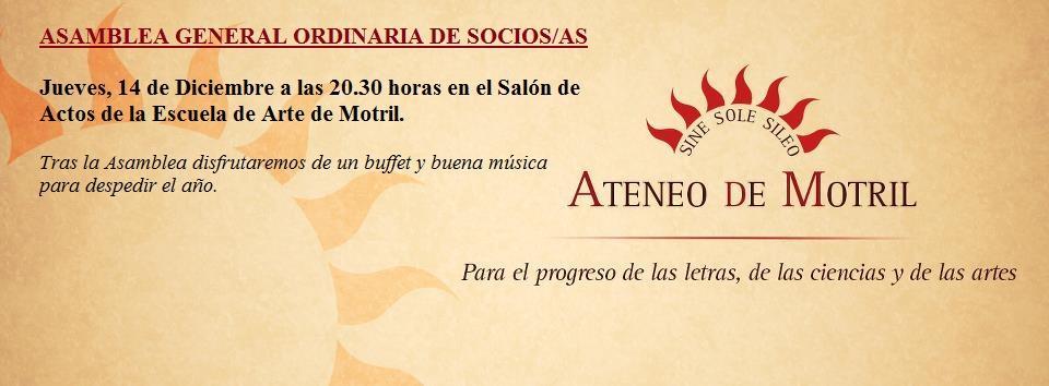 Asamblea de Socios/as del Ateneo 14-XII-2017