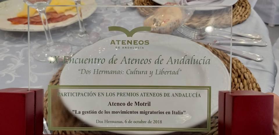 PREMIO PARA EL ATENEO DE MOTRIL