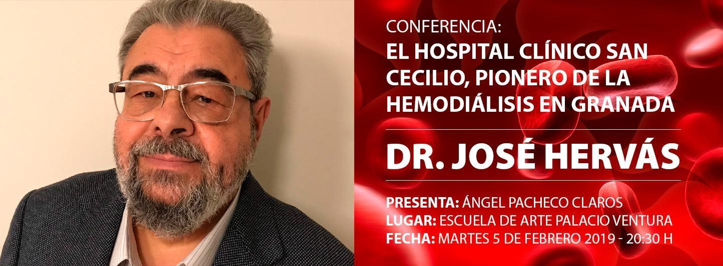 """CONFERENCIA """"EL HOSPITAL CLÍNICO SAN CECILIO, PIONERO DE LA HEMODIÁLISIS EN GRANADA"""""""